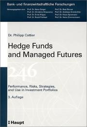Hedge Funds and Managed Futures by Philipp Cottier