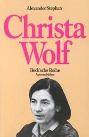 Christa Wolf by Alexander Stephan