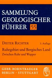 Ruhrgebiet und Bergisches Land by Richter, Dieter