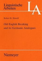Old English breaking and its Germanic analogues PDF