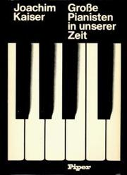 Grosse Pianisten in unserer Zeit PDF