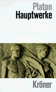 Cover of: Hauptwerke by Plato