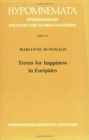 Terms for happiness in Euripides by Marianne McDonald