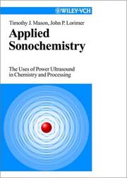 Applied sonochemistry by T. J. Mason