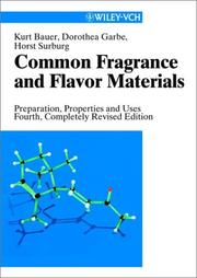 Common fragrance and flavor materials by Kurt Bauer