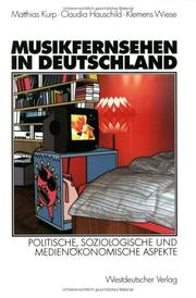 Musikfernsehen in Deutschland by Matthias Kurp