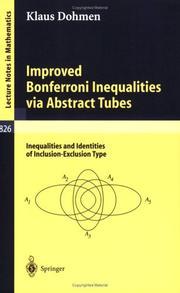 Improved Bonferroni inequalities via abstract tubes PDF