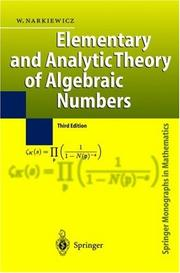 Elementary and analytic theory of algebraic numbers PDF