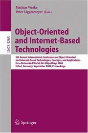 Object-oriented and Internet-based technologies by NODe 2004 (2004 Erfurt, Germany)