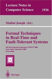 Formal Techniques in Real-Time and Fault-Tolerant Systems PDF