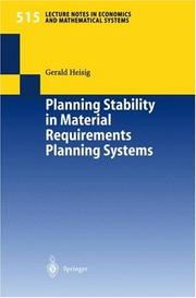 Planning Stability in Material Requirements Planning Systems PDF