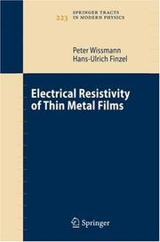 Electrical Resistivity of Thin Metal Films (Springer Tracts in Modern Physics)