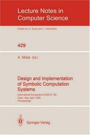 Design and implementation of symbolic computation systems PDF