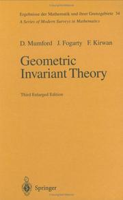 Geometric invariant theory by David Mumford