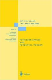 Function spaces and potential theory by Adams, David R.