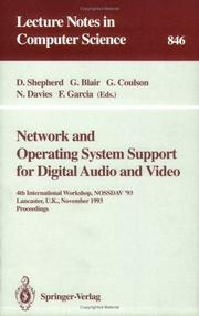 Network and operating system support for digital audio and video by NOSSDAV '93 (1993 Lancaster, England)