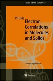 Electron correlations in molecules and solids by Peter Fulde