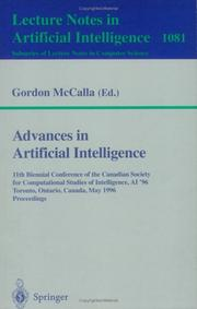 Advances in artificial intelligence by Canadian Society for Computational Studies of Intelligence. Conference