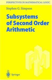Subsystems of second-order arithmetic PDF