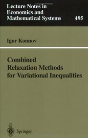 Combined Relaxation Methods for Variational Inequalities PDF
