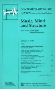 Music, Mind and Structure (Contemporary Music Review (M.E. Sharpe)) PDF