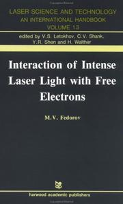 Interaction of intense laser light with free electrons by Fedorov, M. V.