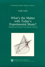 What's the matter with today's experimental music? PDF