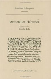 Aristotelica Helvetica by Charles H. Lohr