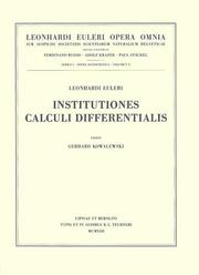 Institutiones calculi differentialis by Leonhard Euler