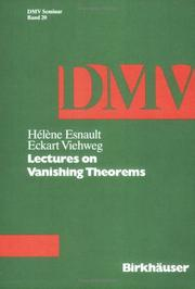 Lectures on vanishing theorems PDF