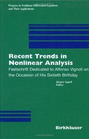 Recent Trends in Nonlinear Analysis PDF