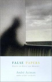 False papers by André Aciman, André Aciman