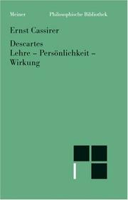 Descartes by Ernst Cassirer