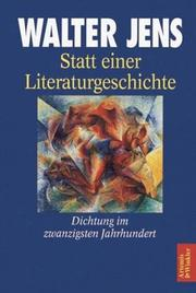 Statt einer Literaturgeschichte by Walter Jens