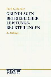 Grundlagen betrieblicher Leistungsbeurteilungen by Becker, Fred G.