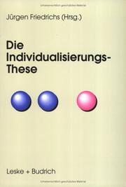 Die Individualisierungs- These PDF