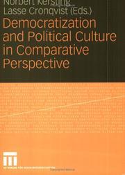 Democratization and Political Culture in Comparative Perspective PDF