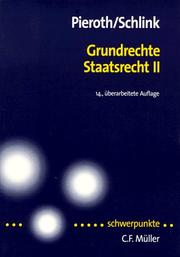 Grundrechte, Staatsrecht II by Bodo Pieroth