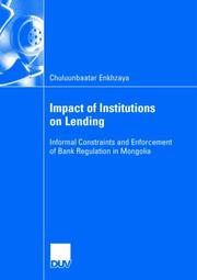 Impact of Insitutions on Lending PDF