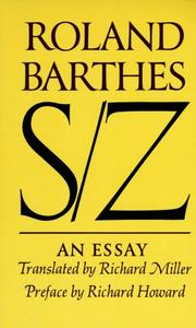 S/Z by Roland Barthes, Roland Barthes
