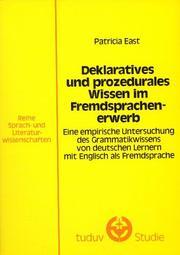 Deklaratives und prozedurales Wissen im Fremdsprachenerwerb