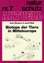 Biotope der Tiere in Mitteleuropa