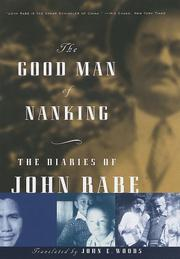 The Good Man of Nanking by John Rabe