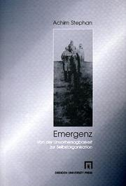 Emergenz by Achim Stephan
