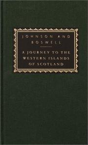 A journey to the Western Islands of Scotland by Samuel Johnson