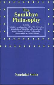 The samkhya philosophy by Nandalal Sinha