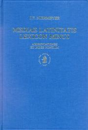 Mediae Latinitatis lexicon minus by Jan Frederik Niermeyer
