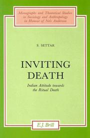 Inviting death by S. Settar
