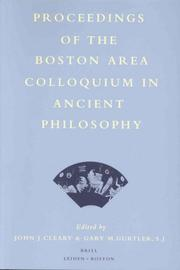 Proceedings of the Boston Area Colloquium in Ancient Philosophy by John J. Cleary