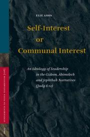 Self-interest or communal interest by Eliyahu Assis